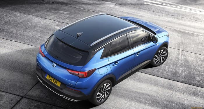 Opel Grandland X 2018. Вид сверху