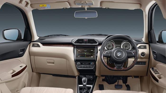 Салон автомобиля Maruti Suzuki Dzire 2017-2018